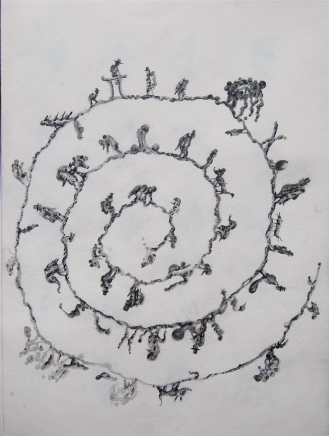spiral, drawing, vittorio